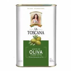 Aceite de Oliva Extra Virgen Lata La Toscana x 500 cc.