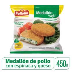 Medallón de Pollo c/Espinaca y Queso Pollolin x 450 g.