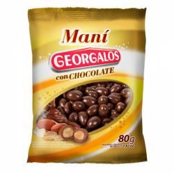 Maní Bañado c/Chocolate Georgalos x 80 g.