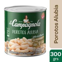 Porotos Alubia al Natural La Campagnola x 300 g.
