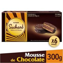 Alfajor Chocolate Mousse Suchard x 6 un.