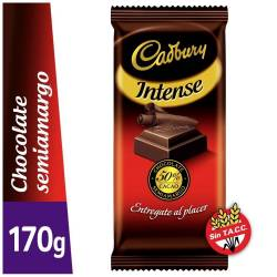 Chocolate Semi Amargo Intense Cadbury x 170 g.