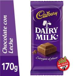 Chocolate con Leche Dairy Milk Cadbury x 170 g.