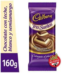 Chocolate Tres Sueños Cadbury x 160 g.