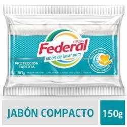 Jabón en Pan Blanco Máxima Blancura Gran Federal x 150 g.