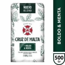 Yerba Mate c/Palo Boldo y Menta Cruz de Malta x 500 g.