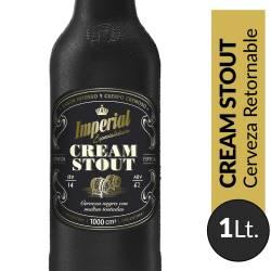 Cerveza Negra Retornable Cream Stout Imperial x 1 Lt.