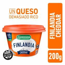 Queso Untable Light Cheddar Finlandia x 200 g.