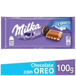 Chocolate c/Leche c/Galletitas Oreo Milka x 100 g.
