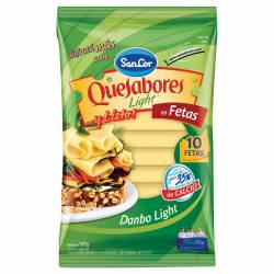 Queso Danbo Light en Fetas Quesabores Sancor x 180 g.