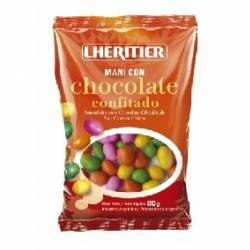 Maní c/Chocolate Confitado Lheritier x 80 g.