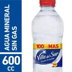 Agua Mineral s/Gas Villa del Sur x 600 cc.