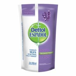 Limpiador Líquido Desinfectante Lavanda Espadol Dettol x 450 cc.