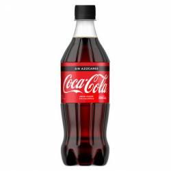 Gaseosa Cola s/Azúcar Pet Coca Cola x 600 cc.
