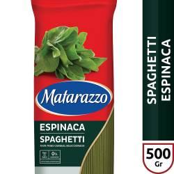 Fideos Spaghetti c/Espinaca Matarazzo x 500 g.