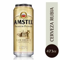 Cerveza Premium Lata Amstel x 473 cc.