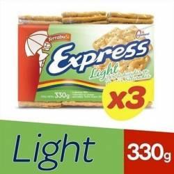 Galletitas Crackers Light Express x 3 un. 330 g.