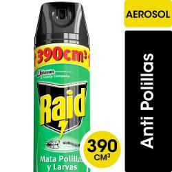 Insecticida Aerosol Polilla O Larva Raid x 390 cc.