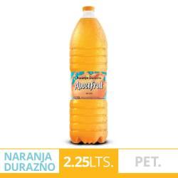 Agua s/Gas Naranja Durazno Awafrut x 2,25 Lt.