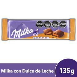 Chocolate Relleno c/Dulce de Leche Milka x 135 g.