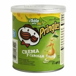 Papas Fritas sabor Crema y Cebolla Pringles x 40 g.