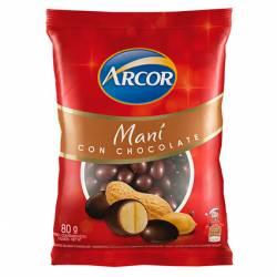 Maní Bañado c/Chocolate Arcor x 80 g.