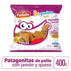 Bocaditos de Pollo c/Jamón y Queso Patagonitas x 400 g.