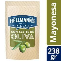 Mayonesa c/Aceite de Oliva Doy Pack Hellmanns x 238 g.