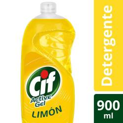 Detergente Líquido Active Gel Limón Cif x 900 cc.