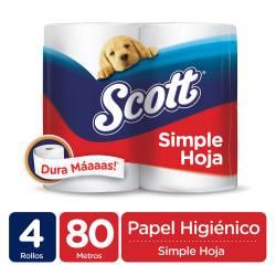 Papel Higiénico Mega 80Mt Scott x 4 un.