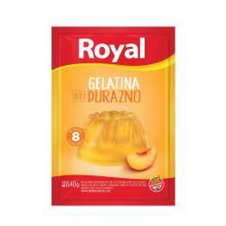 Gelatina en Polvo Durazno Royal x 40 g.