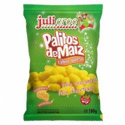 Palitos de Maíz Queso Libre de Gluten Julicroc x 180 g.