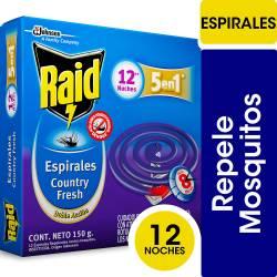 Insecticida Espiral Country Fresh Raid x 12 un.