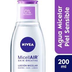 Loción Facial Micelar Piel Sensible 3en1 Nivea x 200 cc.
