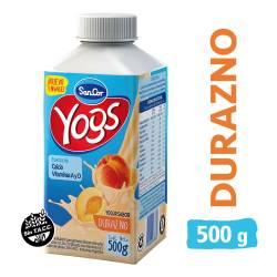 Yogur Bebible Durazno Bot Sancor Yogs x 500 g.