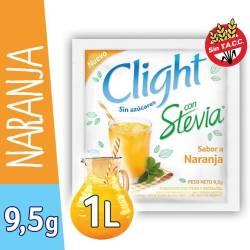 Jugo en polvo Naranja c/Stevia Clight x 7 g.