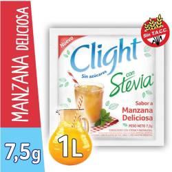 Jugo en polvo Manzana c/Stevia Clight x 7 g.
