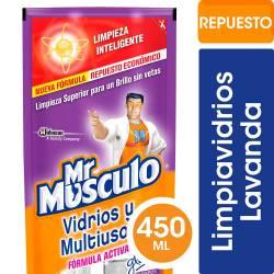 Limpiador Líquido Vidrios y Multiuso Dp Mr. Músculo x 450 cc.