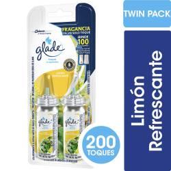 Aromatizante Ambiente Repuesto Toque Limón R.X2 Glade x 24 cc.