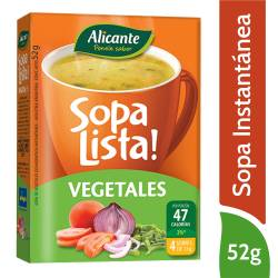 Sopa Lista Vegetales Alicante x 52 g.