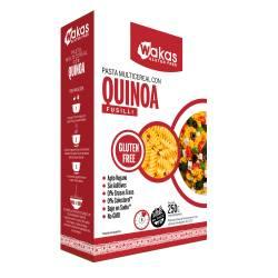 Fideos Multicereal c/Quinoa Fusilli Wakas x 250 g.