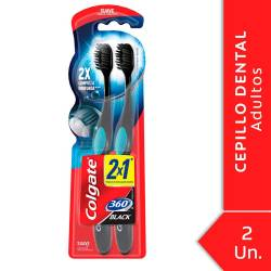 Cepillo Dental 360 Black Su Oft Colgate x 2 un.