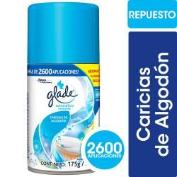 Aromatizante Ambiente Repuesto Caricias Algodón Glade x 175 g.