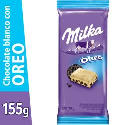 Chocolate Blanco c/ Galletita Oreo Milka Leger x 155 g.