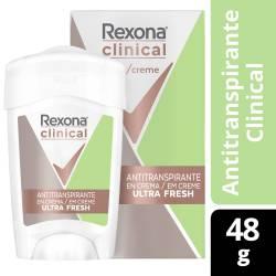 Antitranspirante Crema Clinical Ultra Fresh Rexona x 48 g.