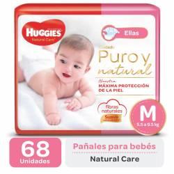 Pañal M Natural Care Minnie Oft Huggies x 68 un.