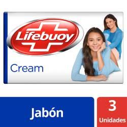 Jabón Tocador Cream Lifebuoy x 3 un.