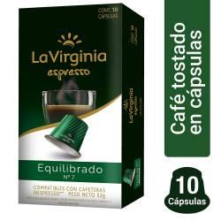 Café Tostado en Cap.Expresso Equili La Virginia x 10 un.