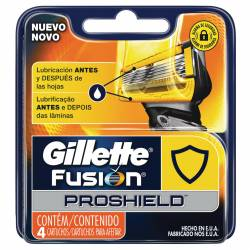 Cartucho Afeitar Fusión Proshield Gillette x 4 un.