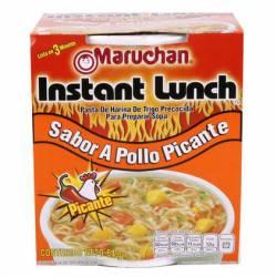 Fideos Listos Pollo Picante Lunch Maruchan x 64 g.
